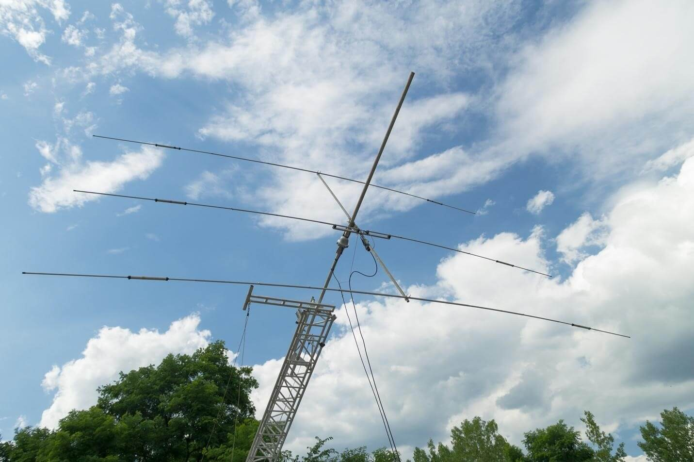 Amateur radio antennas allow long-distance communication without cell towers or internet.