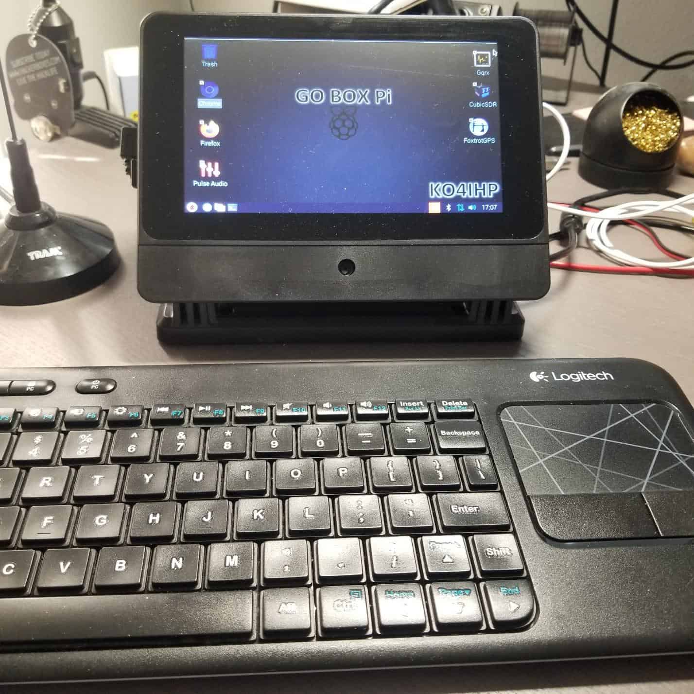 Logitech wireless keyboard with touchpad
